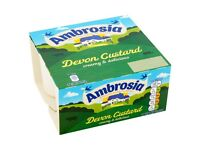 Ambrosia Custard and Rice pudding available for export 4 x 125g £1.25 each (Wholesale Only)