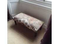 Kelim covered footstool L 100 cm x W 50 cm x H 31 cm