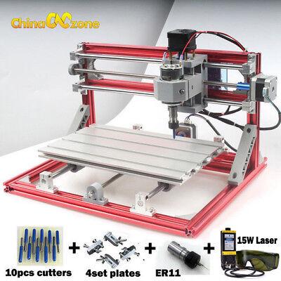 Cnc 3018 Engraving Router 15w Laser Module Carving Milling Diy Laser Machine