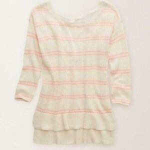 AMERICAN EAGLE KNIT CREAM SWEATER!