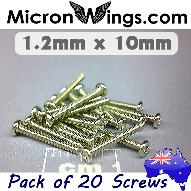 20 x Screws Machine Thread 1.2mm x 10mm