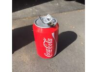 """""""COKE"""" Travelling drinks fridge with both 13amp and 12V power inputs"""