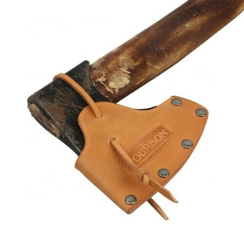 """Leather Hatchet Axe Sheath - Hand Crafted Fits up to 4"""" Blade Adjustable Strap"""