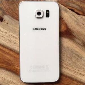 White Samsung S6 32 GB Smartphone unlocked-Excellent condition