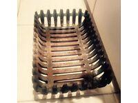 Heavy wrought iron fire basket for open fire