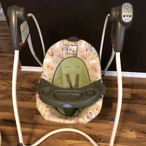 Baby swing with 2rattles