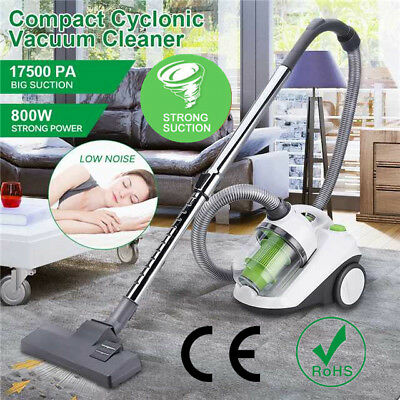 800W Lightweight Cyclonic Bagless Cylinder Vacuum Cleaner Vac HEPA Hoover 2.5L