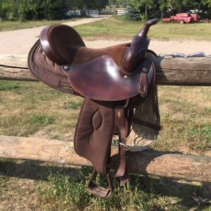 """16"""" Big Horn Synthetic Saddle with Cinch & Snaffle Bit"""