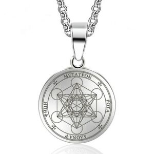 Sigil of Archangel Metatron Pendant Necklace Stainless Steel