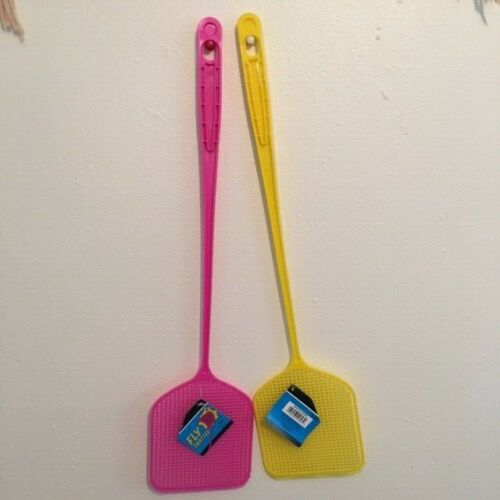 2 PCS Fly Swatter Strong Flexible Manual Swat Set Pest Control Assorted Colors