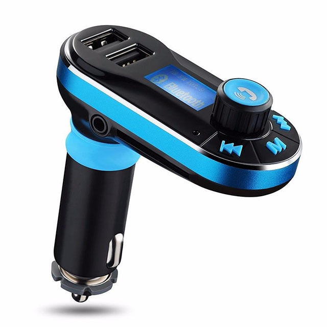 Купить Unbranded Bluetooth Car Charger - Bluetooth Car Kit FM Transmitter Wireless Radio Adapter USB Charger for Phone