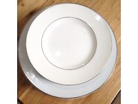 Variety of Silver Rimmed Plates