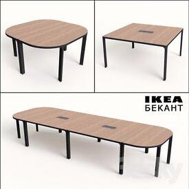 Ikea Bekant Conference Desk (x2)