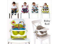 Mamas & Papas Baby Bud Booster Seat and Babyplay Universal Highchair Activity Tray