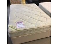 double divan bed with 2 drawers (mattress and base)