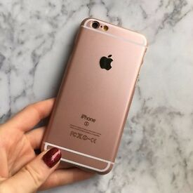 IPHONE 6, ROSE GOLD, 32GB. WITH CHARGER.