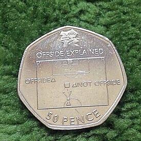 50p coin football 2011.
