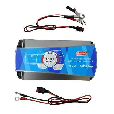 Coleman 12V 1/8/12 Amp Smart Battery Charger W/ Reconditioning Function 60138