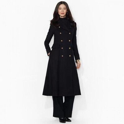 Giacca donna morbido cappotto cappottino lungo nero sciancrato elegante 1384