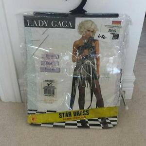 LADY GAGA STAR DRESS COSTUME SIZE XS NEW
