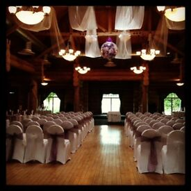 100 white Lycra wedding chair covers