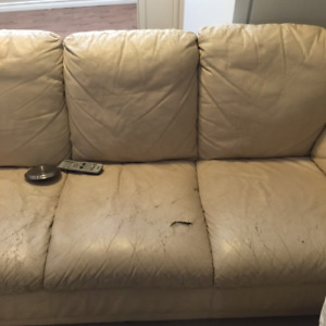 Free leather Couch & Chair