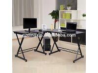 Black corner office desks