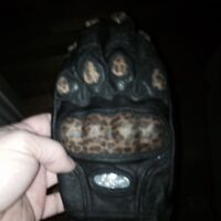 New leather gloves ladies medium