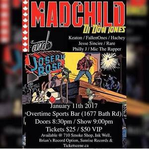 (TICKETS) MADCHILD & SPECIAL GUESTS (LIVE IN KINGSTON JAN 11TH)