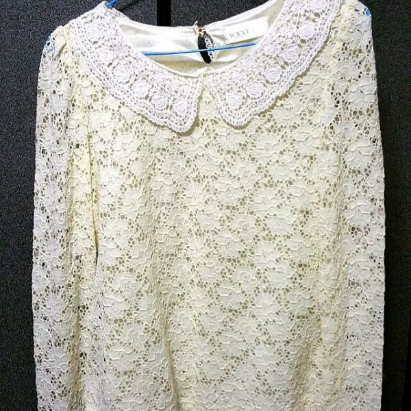 crotchet Lacy Top With Lacy Collar