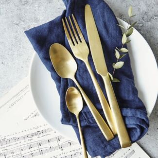 Gold Cutlery Available for Hire Wedding / Event Decorations