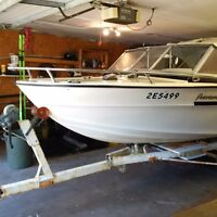 REDUCED  Peterborough 17.5 ft asking 2800.00 OBO