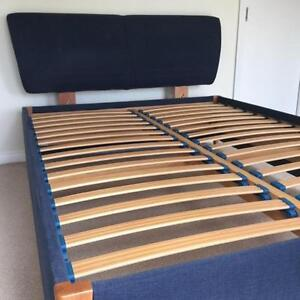 Queen size bed frame with bed head Surrey Hills Boroondara Area Preview