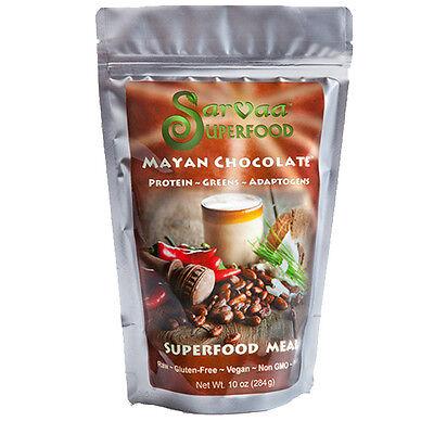 Sarvaa Superfood Mayan Chocolate   Organic  Vegan  Raw Meal Protein Powder 10 Oz