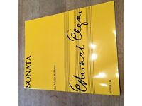 Elgar Sonata, opus 82, for violin and piano, Novello press, new