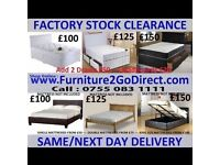 Selection of quality new bed frame and mattress