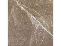 Aparici insignia brown pulido 89.45x89.45 porcelain marble italian tiles