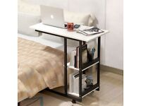 NEW White Table Lazy Computer Desk PC Table Home Office Study Bedroom Furniture