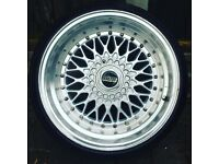 BBS RS styled alloys with tyres x4 GOING CHEAP
