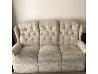 3 seater sofa 2 armchairs one reclines