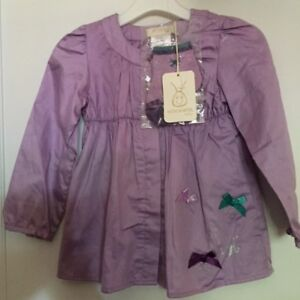 Adorable Krickets Baby Purple Dress& Sock Set  NWT 24M.