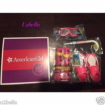 American Girl Doll LEA CLARK BEACH ACCESSORIES Towel Snorkel Flippers NIB