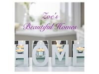 HOME mirrored candle holder