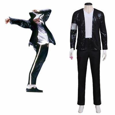 MJ Michael Jackson Billie Jean Black Jacket and Pants Cosplay Costume - Mj Costume