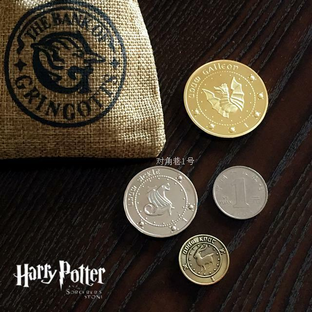 3pcs Set Harry Potter Gringotts Bank Coin Collection Galleon Sickle Knut Gifts