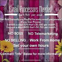 Now Hiring Email Processors