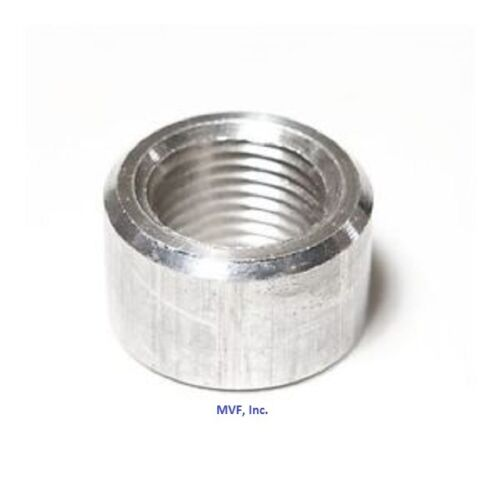 """1/2"""" NPT Half Coupling Aluminum 6061-T6 Pipe Fitting, Weld On Bung USA <A090441"""