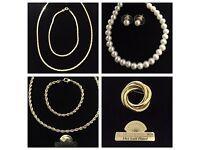 Gold Plated Costume Jewellery - 250 pcs - Job lot