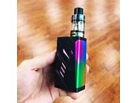 Brand new SMOK black/rainbow T-priv Led model full vape kit and extras