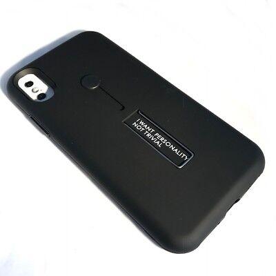 Apple iPhone X Cover Slim Case Premium Design Schutzhülle 10 Silikon Hülle Black Black Premium Silikon Cover